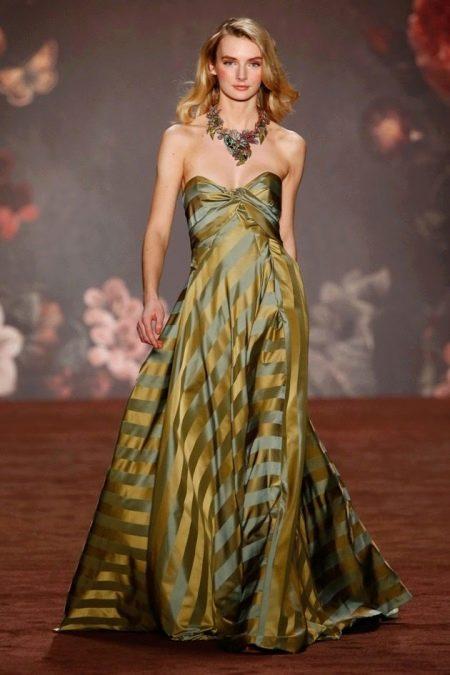Платье без бретелей в полоску