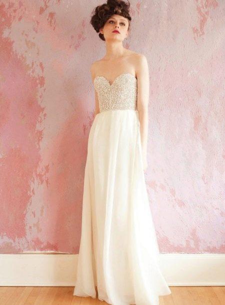 Платье-бюстье максимальной длины