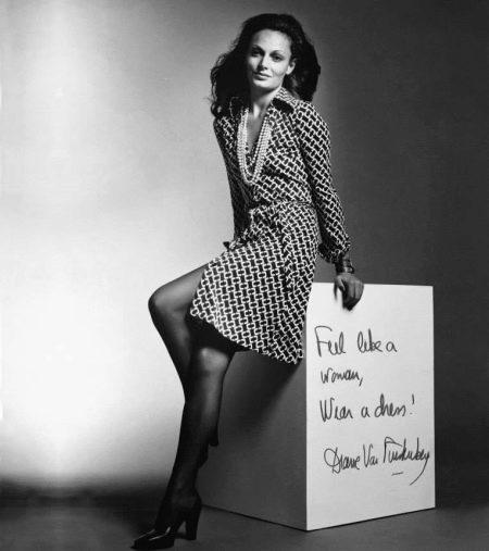Диана фон Фюрстенберг в платье-халат