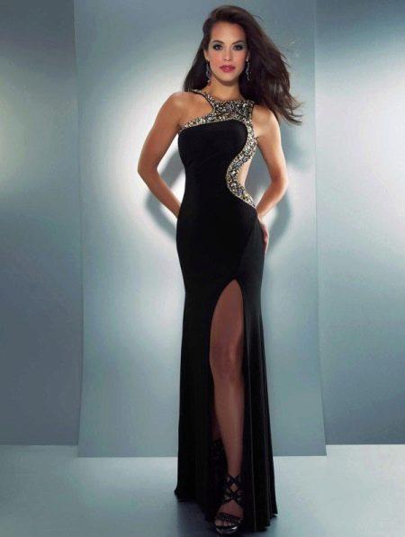 Платье из джерси черное