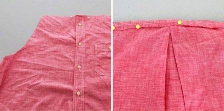 Пошив платья из рубашки