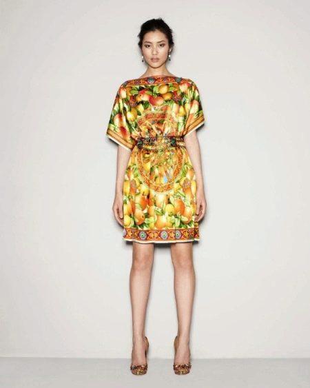 Платье-туника из платков