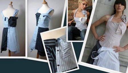 Пример платья из мужской рубашки