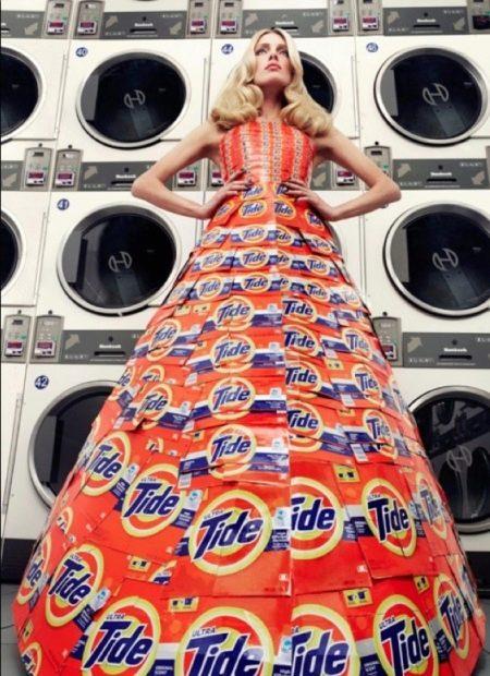 Платье из под пачек порошка