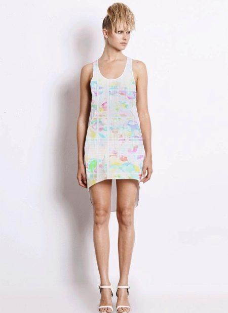 Платье-майка для худых женщин с фигурой Прямоугольник