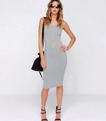 Платье-майка средней длины