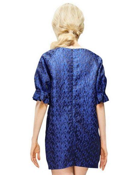 Платье-мешок с застежкой-молнией на спине