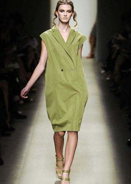 Платье-мешок с запахом