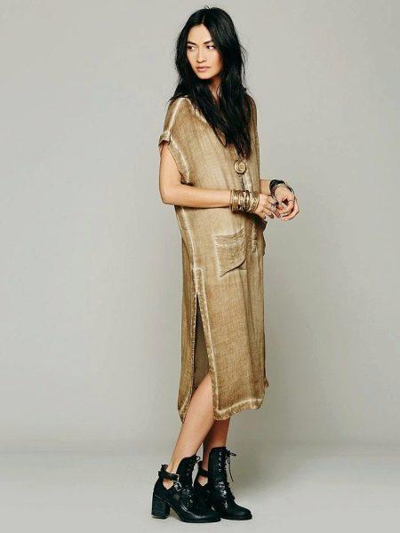 Платье-мешок с карманами