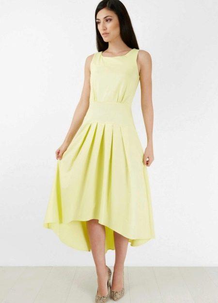 Платье с заниженной талией с пышной асимметричной юбкой