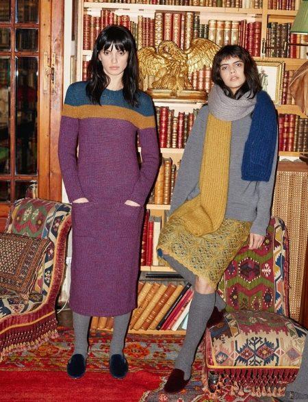 Шерстяное платье с колготами