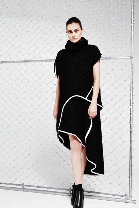 Шерстяное платье хай-лоу