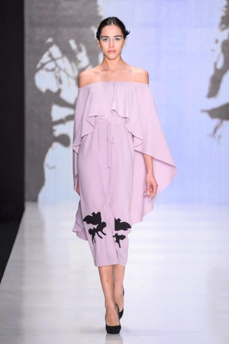 Платье-балахон из крепдешина
