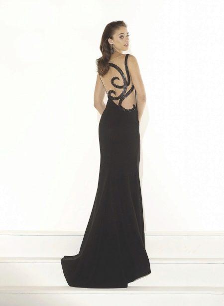 Платье с узором на спине