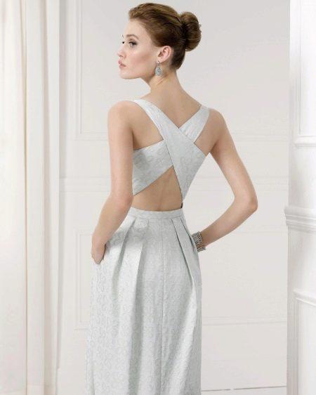 Выпускной платье с открытой спиной