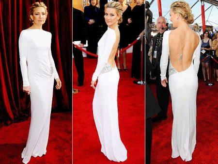 Платье с открытой спиной Кэйт Хадсон