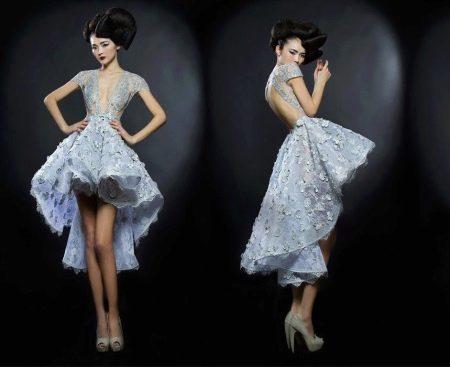 Платье с открытой спиной хай-лоу