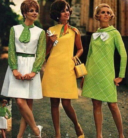 Платья стиляг 60-х годов