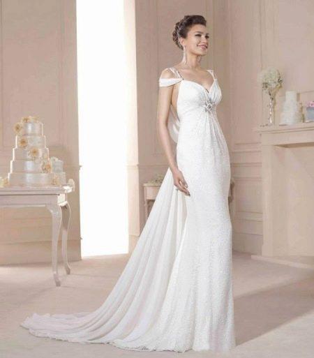 Платье в стиле ампир свадебное