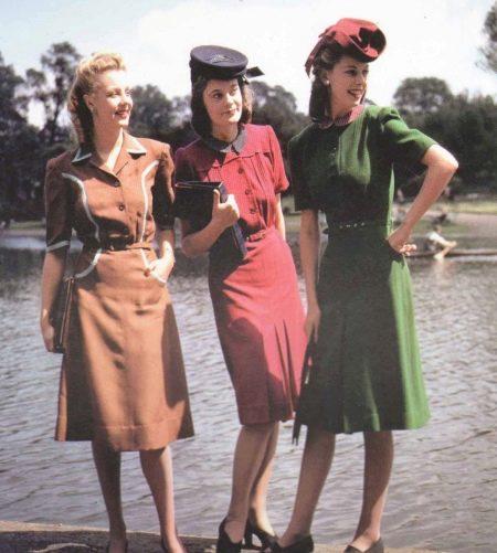 Платье в стиле ретро 40-х
