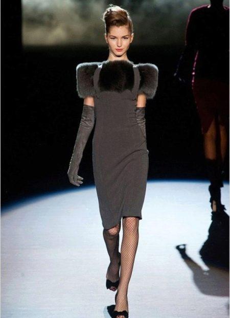 Приталенное  платье трикотажное