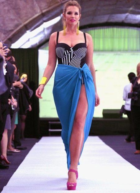 Саронг в качестве юбки для полных