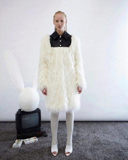 Зимнее платье-свитер