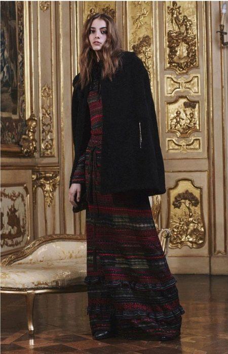Зимнее платье трикотажное