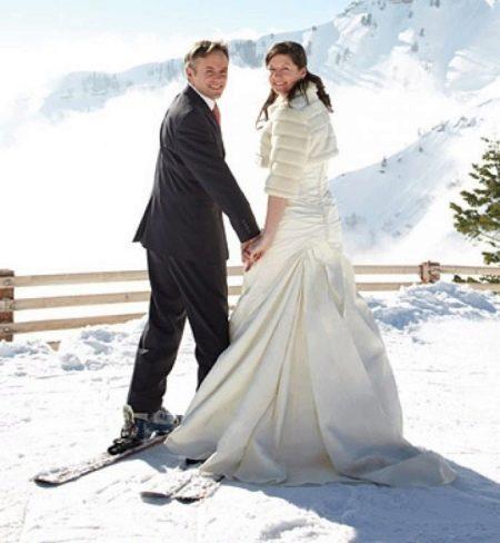 Зимнее платье свадебное
