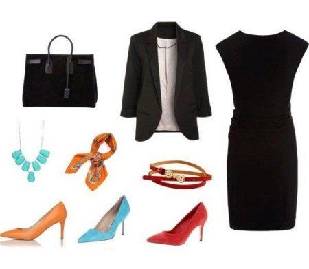 Платок к черному платью