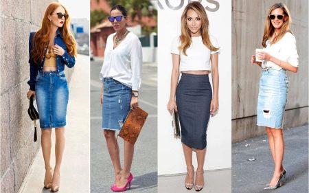 джинсовые юбки карандаш