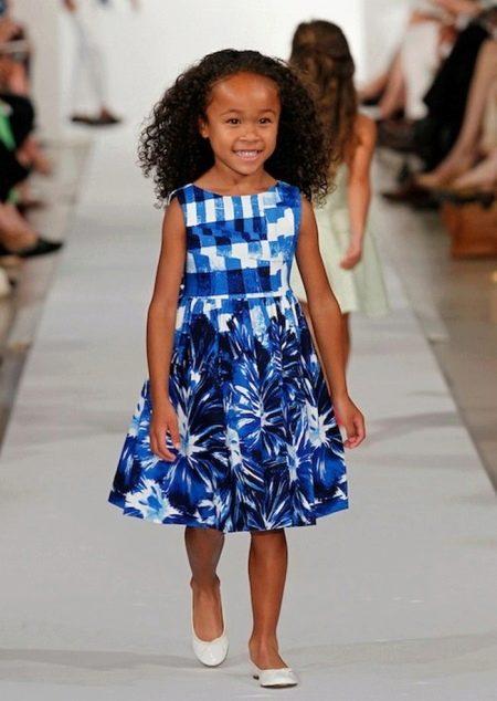 Цветное платье для девочек 6-8 лет
