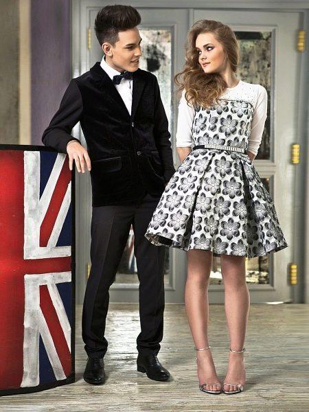 Нарядное платье для девочек в стиле нью-лук