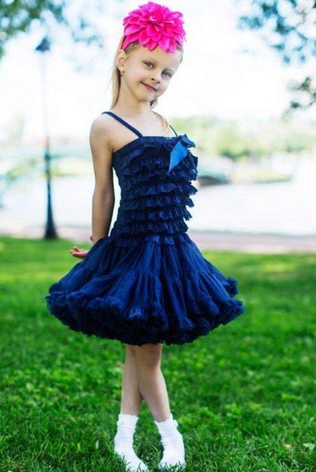 Платье с юбкой американкой короткое для девочки