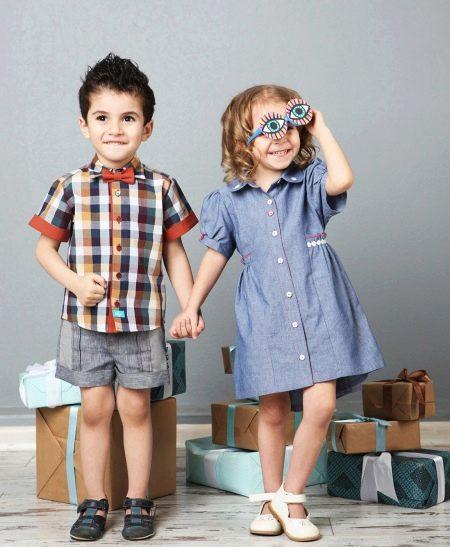 Летнее платье-рубашка для девочки