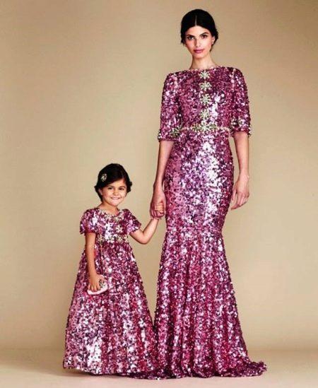 Летнее платье в пол для девочек