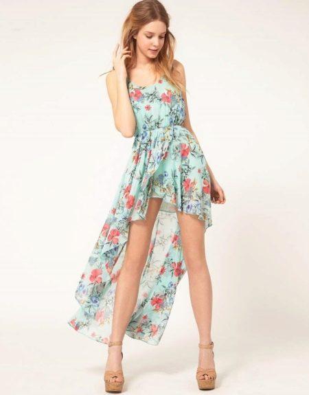Летнее платье для девочек 12-14 лет хай-лоу