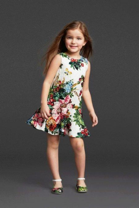 Летнее нарядное платье русалка для девочек