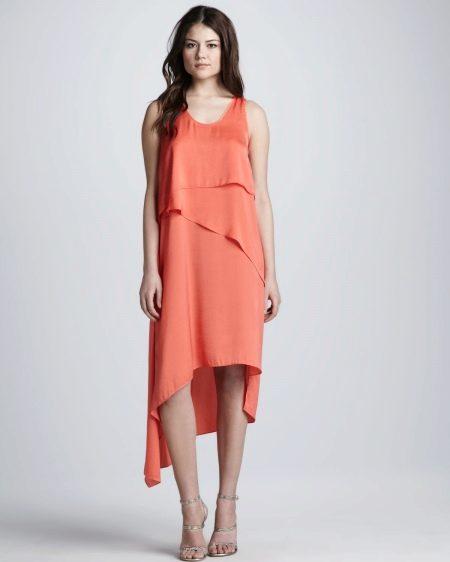 Модное платье-маллет с воланами сезона весна-лето 2016 года