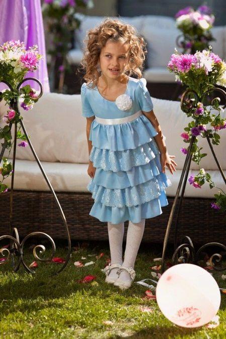 Нарядное платье для девочки многоярусное