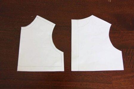 Выкройка лифа крестильного платья