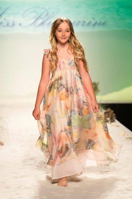 Платье в пол для девочки 11 лет