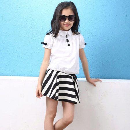 Платье-рубашка для девочки 11 лет
