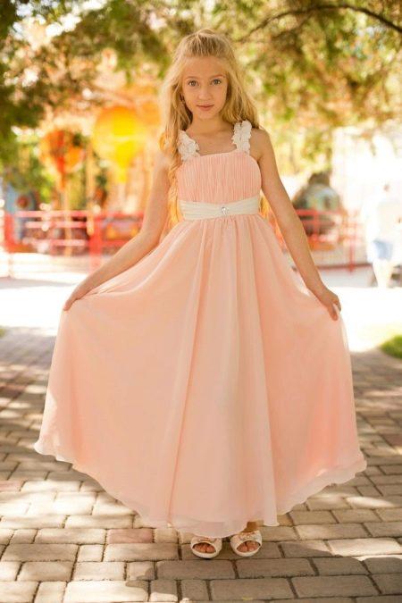 Платье с завышенной талией для девочки 11 лет