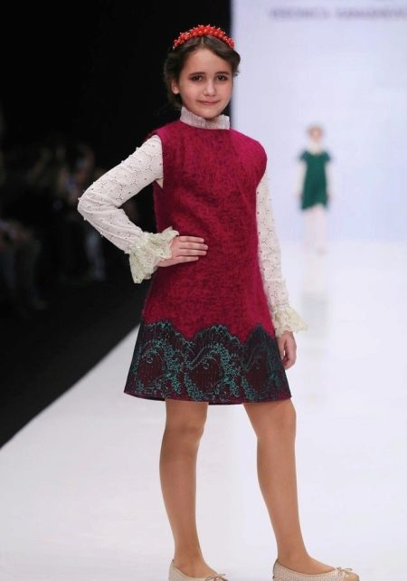 Платье зимнее без рукав для девочки 10-12 лет