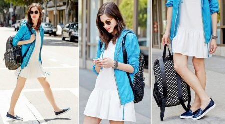 Платье со слипонами и рюкзаком