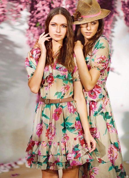 Платье с цветочным принтом для подростков