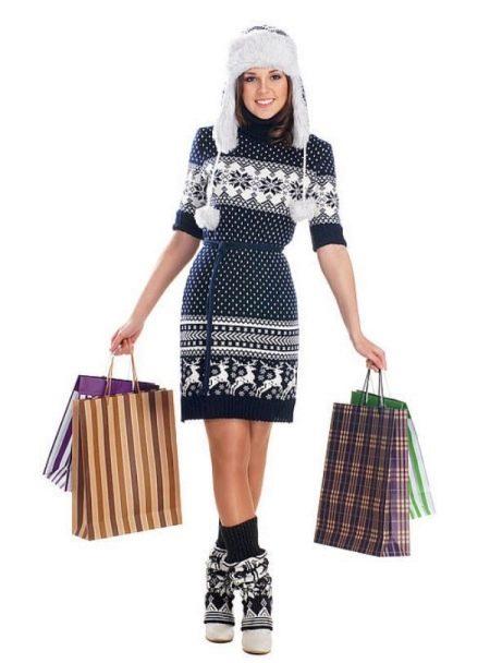Вязаное платье для подростка