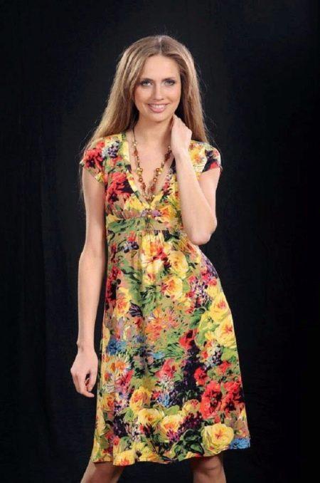 бязевое платье с цветочным принтом