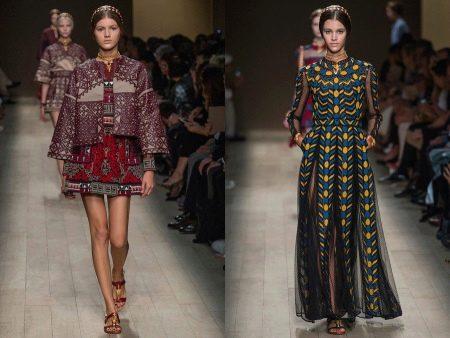 разновидности платьев из парчи